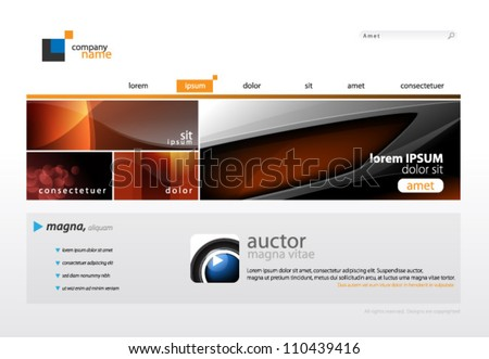 Website Template eps10 Vector Design