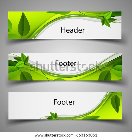 website template header and
