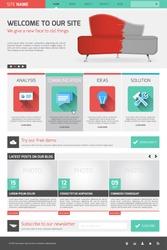 Website template - modern flat design