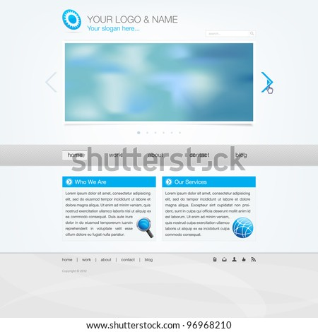 Website template - modern simple design
