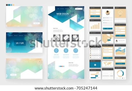 Page Layout For Company Profile Annual Report Brochure And Flyer Template With Info Graphic Element Vector A4 Size Editable