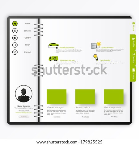 website template  open notepad