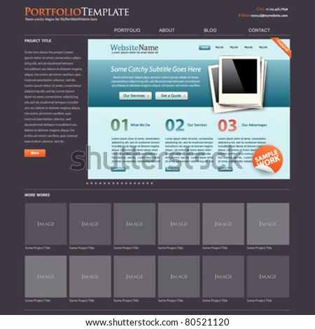website template portfolio + bonus modern website layout is included!
