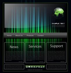 Website template rainbow glowing, vector.