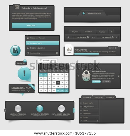 Website template UI elements