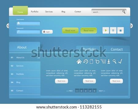 Website template UI elements