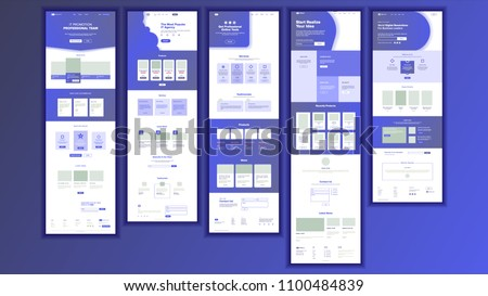 Website Template Vector. Page Business Interface. Landing Web Page. Responsive Ux Design. Responsive Blank. Finance Service. Opportunity Form. Illustration