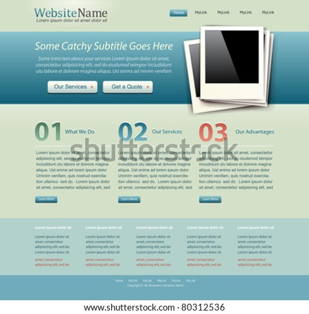 website template vintage colors
