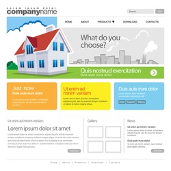 Website Template with home. 960 Grid.
