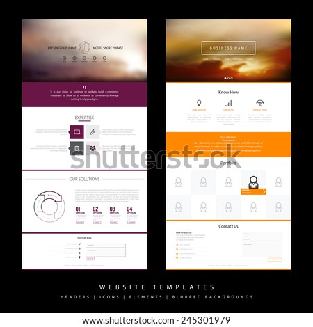 Use Of Blur Backgrounds In Website Design Beautiful 50