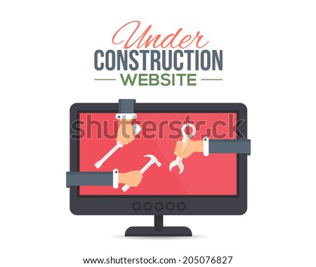Website Under Construction Flat Vector Template