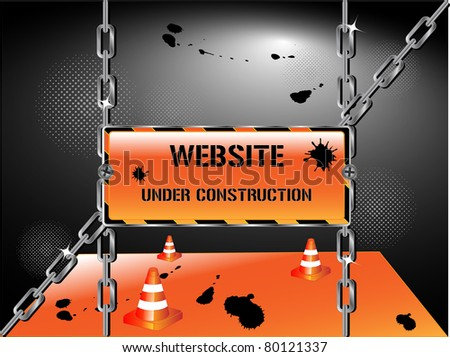 website under construction sign illustration