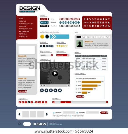 Website Web Design Elements Template