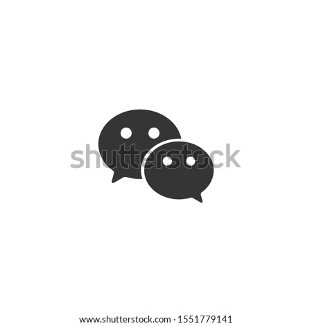 WeChat app original icon design. We chat logo. Vector design isolated on white background.