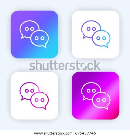 Wechat bright purple and blue gradient app icon