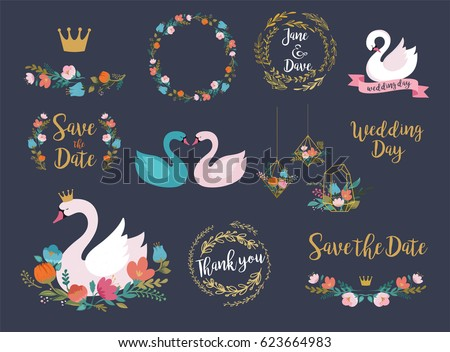wedding and birthday set with