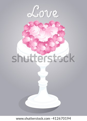 wedding and holidays party cake