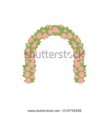 wedding arc door with flowers