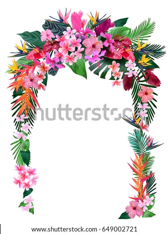wedding arch from tropical