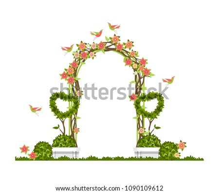 wedding arch on a white