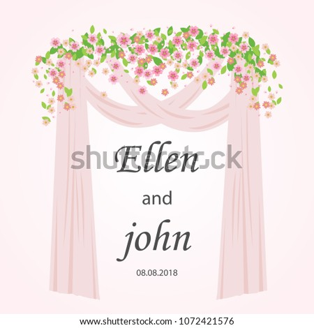 wedding arch with pink and
