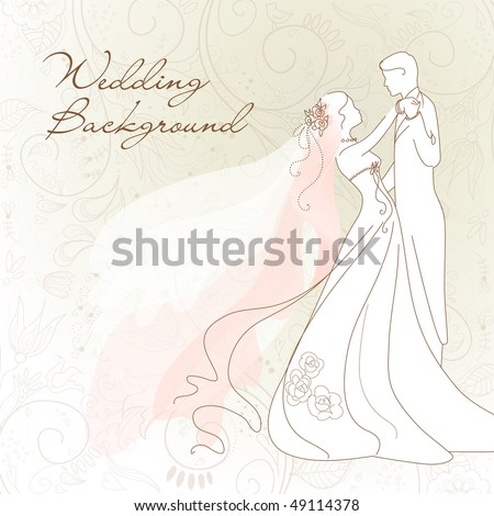 stock vector Wedding background