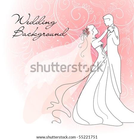 stock vector Wedding background