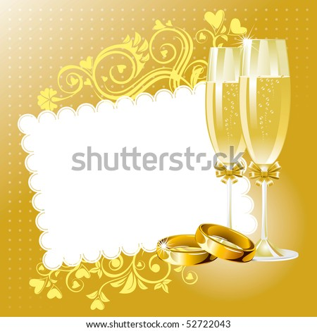 stock vector Wedding background in gold tone vector