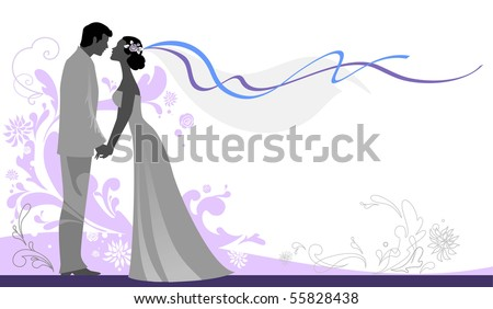 Wedding  background with space for text