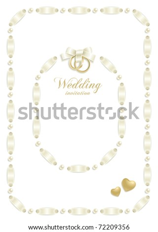 stock vector Wedding backgrounds with ribbon making a frame for your text