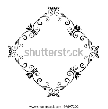 stock vector Wedding border