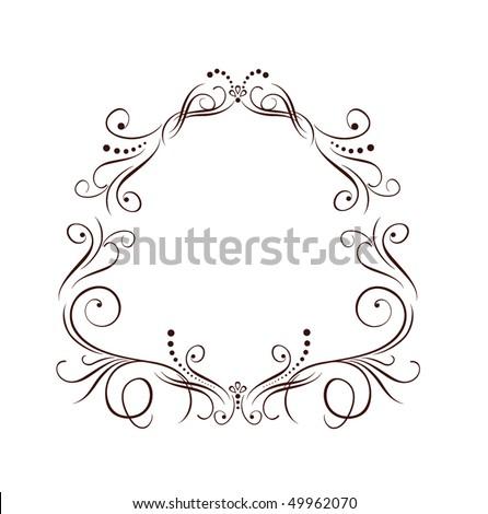 stock vector Wedding border