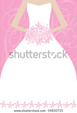 stock vector Wedding Bridal Shower Invitation Panel Area for your text