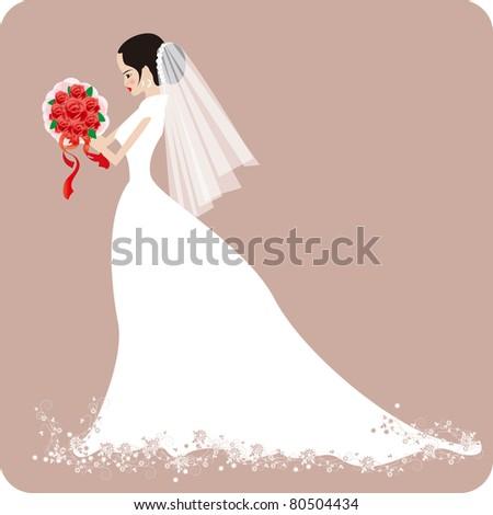 wedding bride with rose