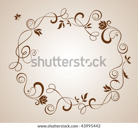 stock vector Wedding brown border
