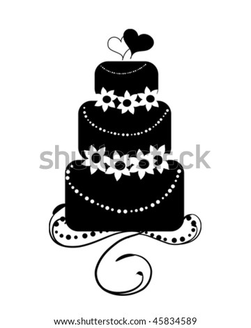 stock vector Wedding Cake