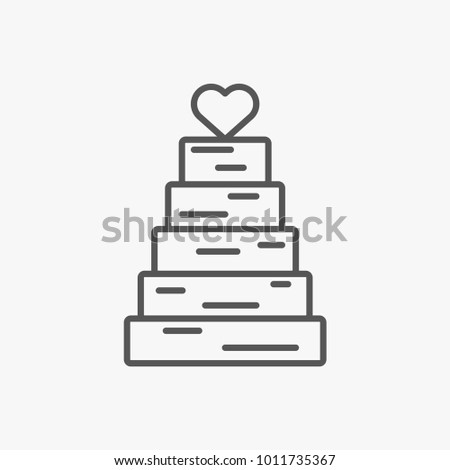 Cake White Outline Icons Download Free Vector Art Stock - Wedding Cake Outline