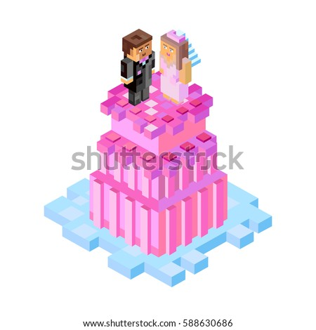 wedding cake with figures in