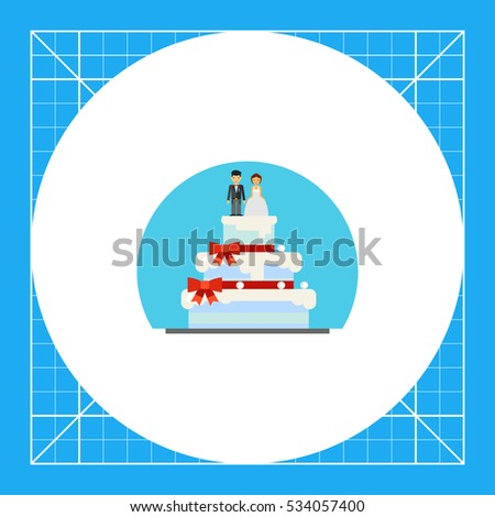 wedding cake with figurines icon