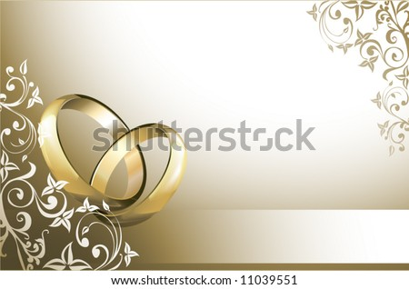 stock vector Wedding card