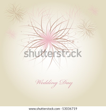 wedding card - stock vector