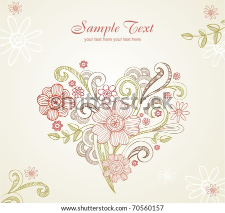 Wedding card. All elements separately, very useful for creation of any design
