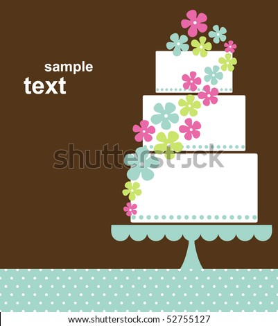 stock vector wedding card design
