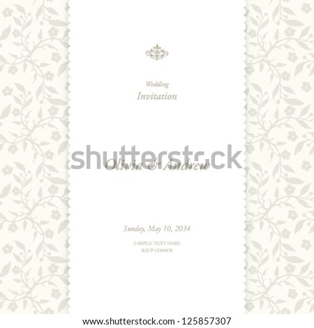 Wedding card invitation card