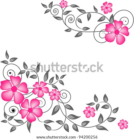 Wedding card or invitation with abstract floral background. Greeting card in grunge or retro style.