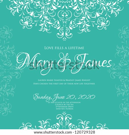 Wedding card or invitation with abstract floral background. Greeting postcard in grunge or retro vector Elegance pattern with flowers roses floral illustration vintage style Valentine anniversary