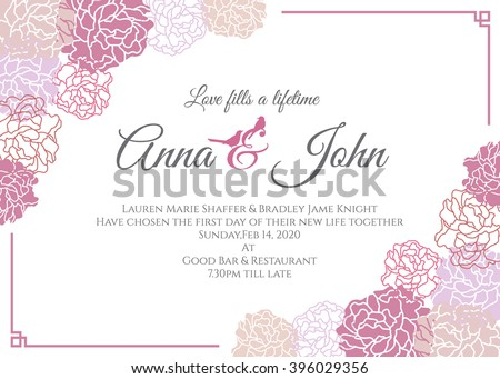 Modern Wedding Card Templates Download Free Vector Art Stock