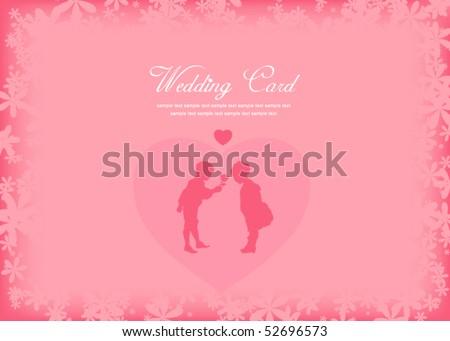 stock vector wedding card templatevector