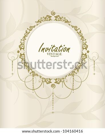 Wedding card. Vector illustration.