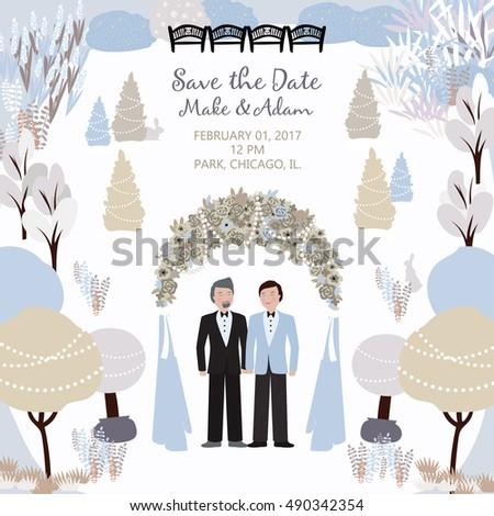 wedding card with a gay couple